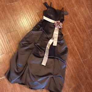 Dresses & Skirts - Child's brown Formal Dress with Flower